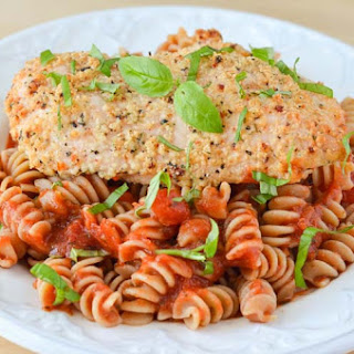Easy Parmesan Garlic Chicken & Pasta.