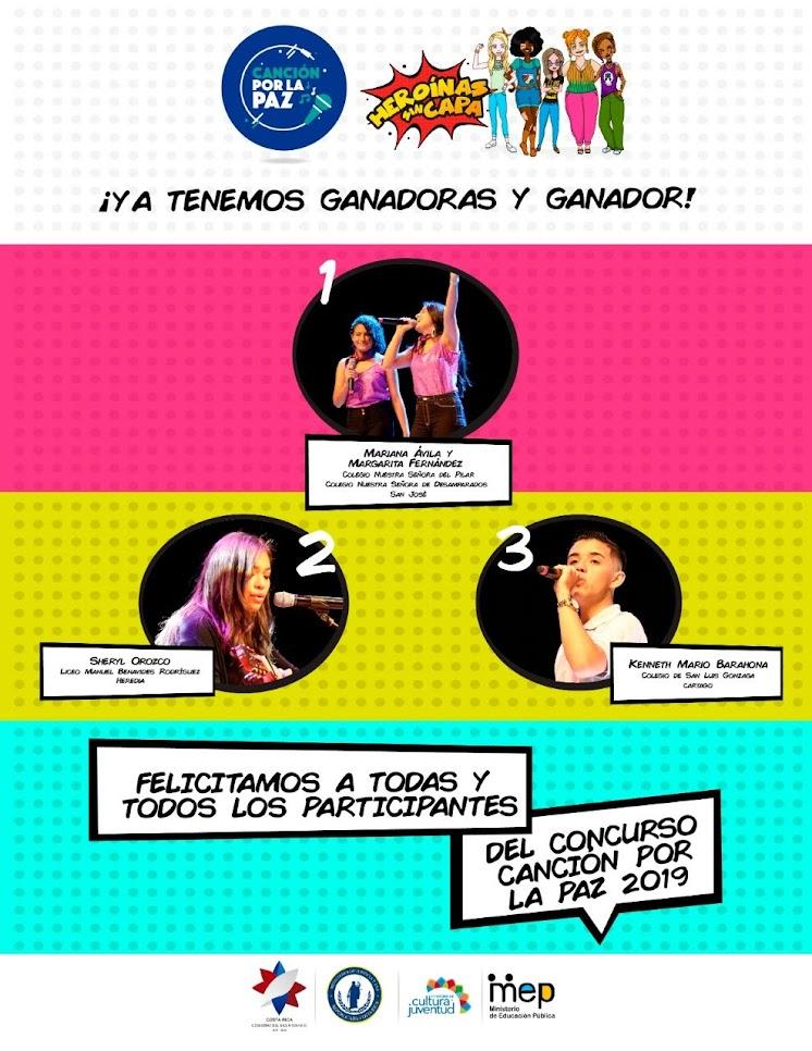 """""""LIBRES"""" ES EL TEMA GANADOR DE CANCIÓN POR LA PAZ 2019"""