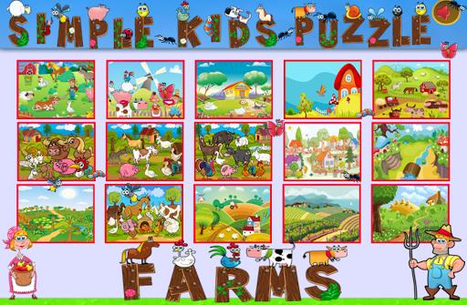 Simple Kids Puzzle - Farms