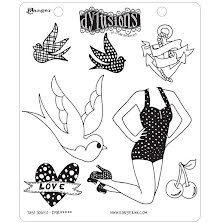 Dylusions Cling Stamps 8.5X7 - Jays Jollies