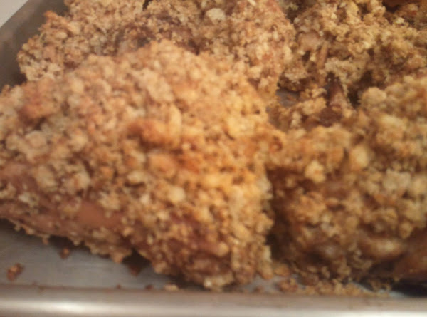Stuffing Topped Oven Fried Chicken Recipe