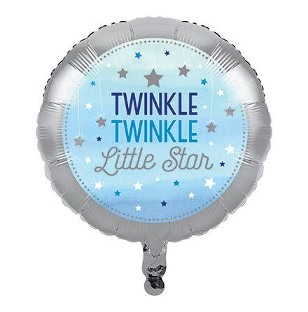 Folieballong Twinkle blå