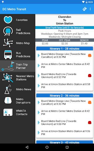 DC Metro Transit Info - Free screenshot 21