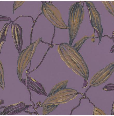 Rasch Vanity Fair 525755 Tapet med bladrankor, Guld/Lila