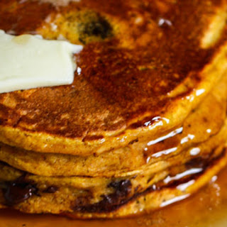 Chocolate Chip Pumpkin Spice Pancakes