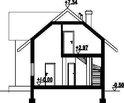 Bolechów dwst - Przekrój