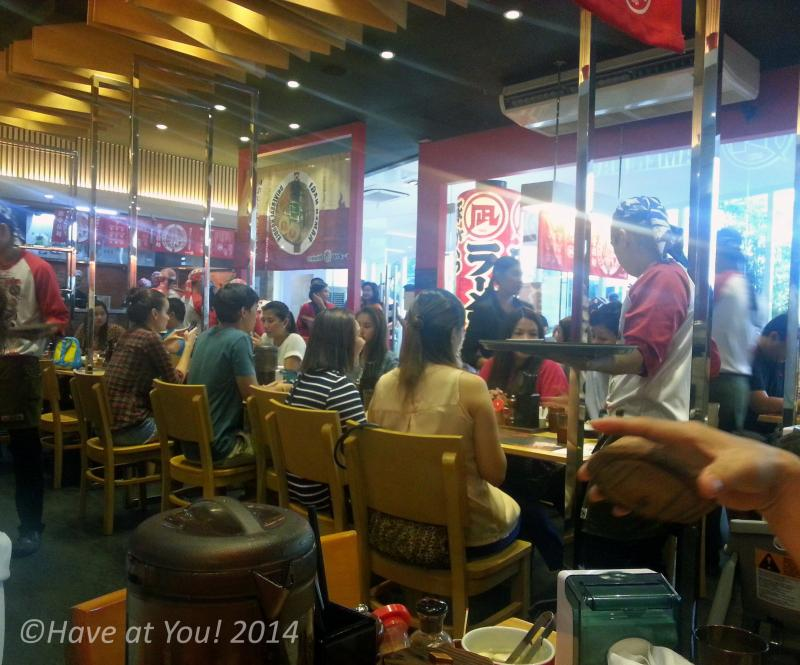 Ramen Nagi SM Aura dining area