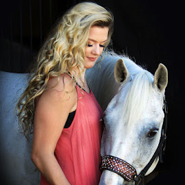 Our Time by Diana Cantey - Animals Horses ( equine photography, sr. model, horses, diana cantey photography, horse photos,  )