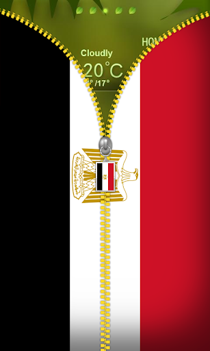 Egypt Flag Zipper Lockscreen