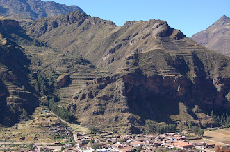 Photo: On the other side of the valley is Pisac - our first Inca site