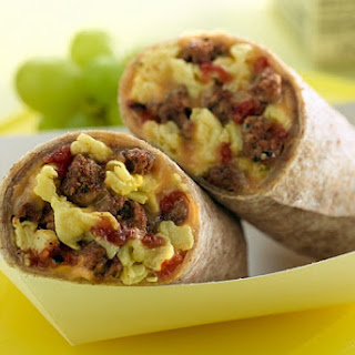 Turkey Sausage Breakfast Burrito.