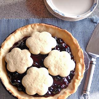 Blueberry Pie with Sugar Cookie Crust