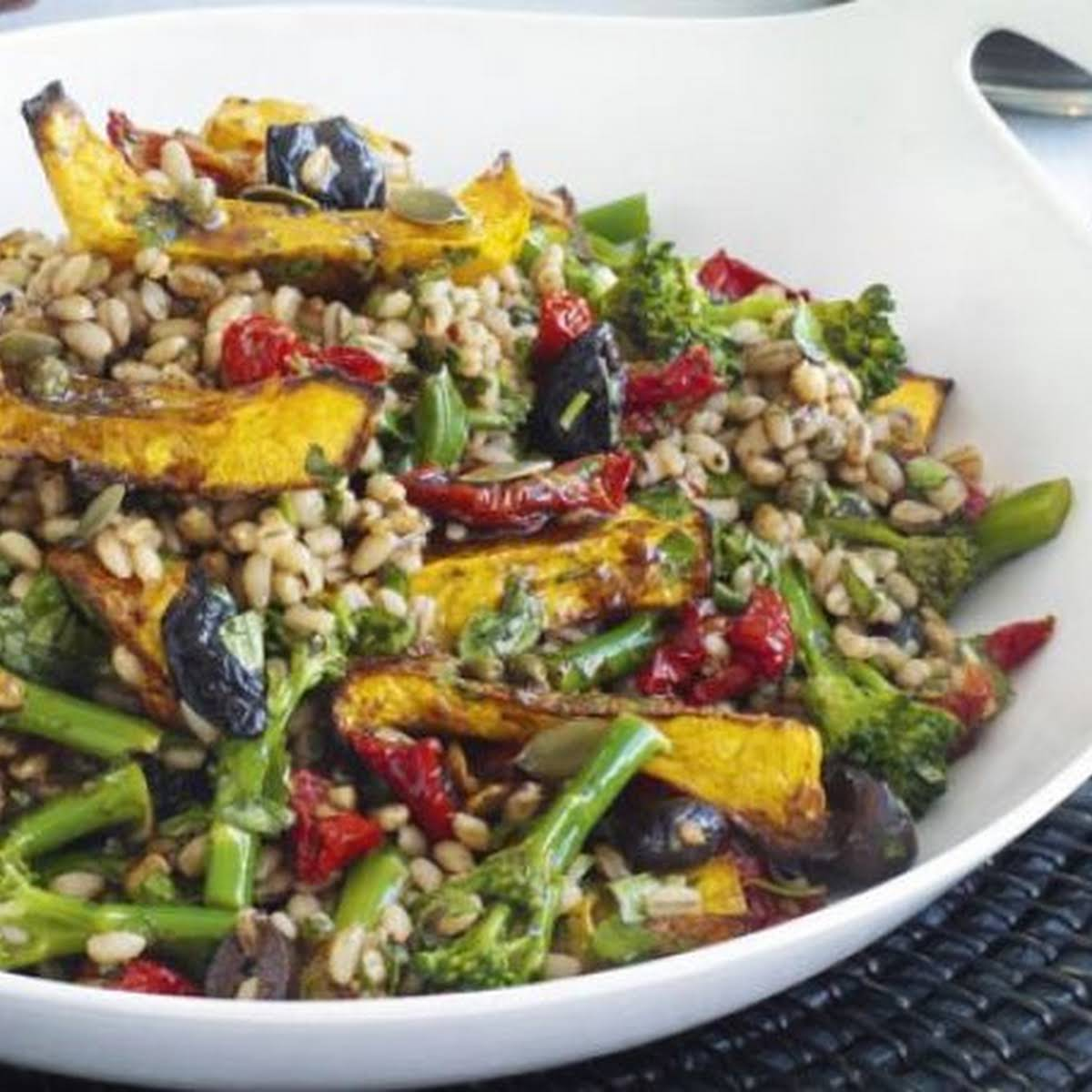 Squash & Barley Salad  subsequent to Balsamic Vinaigrette