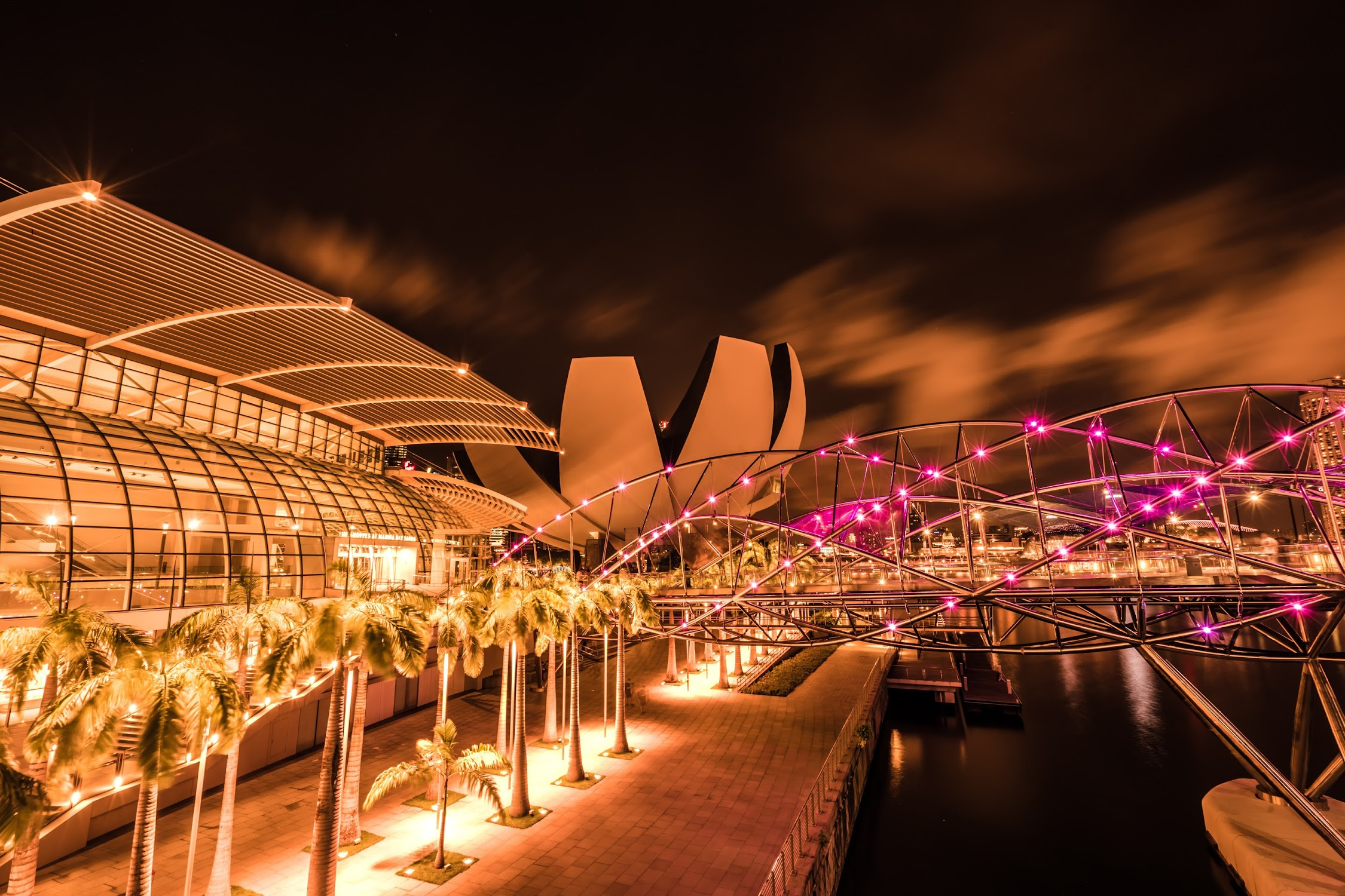Singapore Marina bay Sands night view