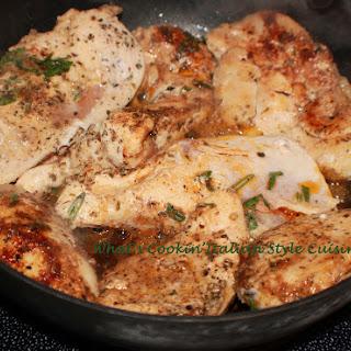 Italian Sauteed Rosemary Basil Chicken.