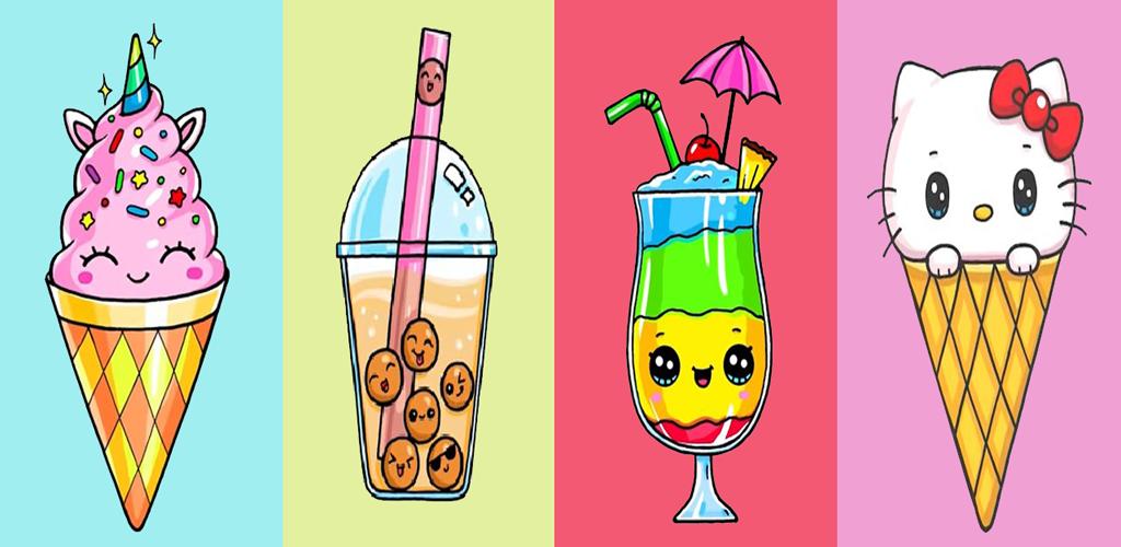 Bagaimana Menggambar Ice Cream Lucu untuk Android - Apk Unduh