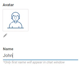 Set avatar image and display name properly