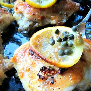 Baked Chicken Thighs Piccata.