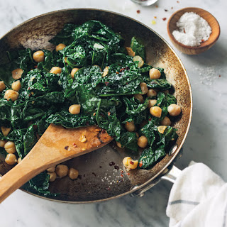 Spicy Sautéed Kale and Chickpeas.