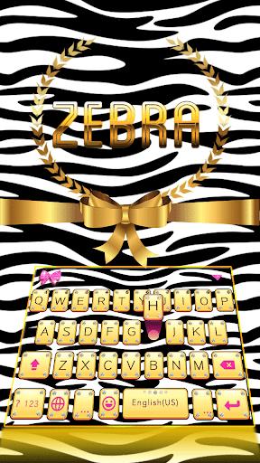 Zebra Emoji Kika KeyboardTheme