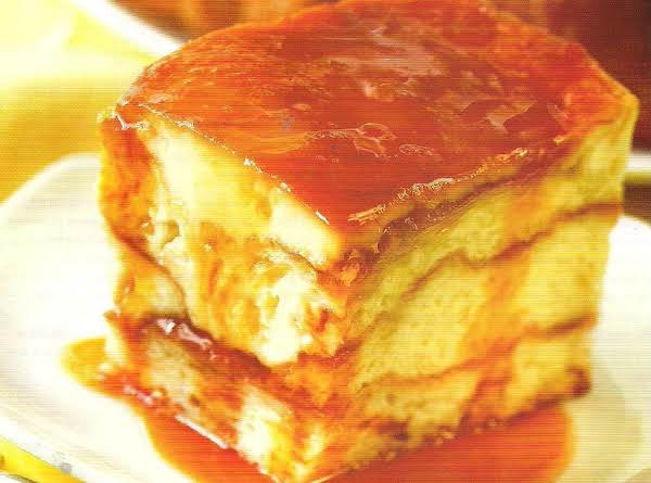 Croissant Cream Cheese Flan