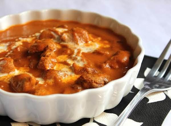 Seasoned Chicken In Creamy, Silky Sauce.