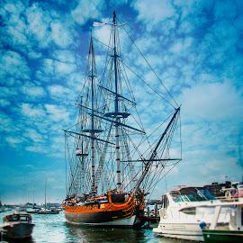 HMS Rose by Joseph Vittek - Transportation Boats ( british royal navy, fox studios, replica, seven year's war, hms surprise, hms rose, american revolution, 20 guns, three mast )