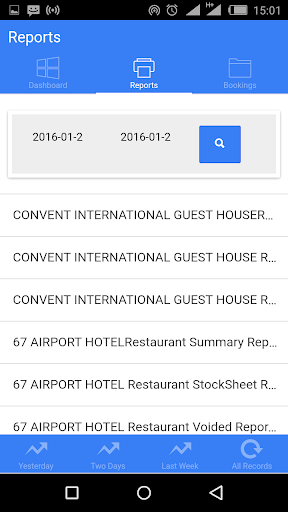 hotelplus reports screenshot 1