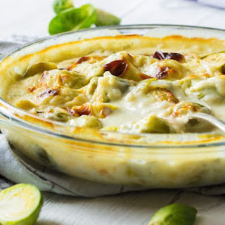 Christmas Sprouts in Gorgonzola Cheese Sauce Recipe