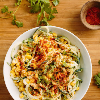 Elote with Zucchini Noodles.