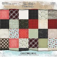 Tim Holtz Idea-Ology Paper Stash Paper Pad 8X8 20/Pkg - Christmas