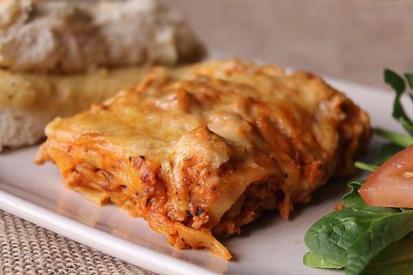 Slice off a piece, grab some garlic bread and enjoy!