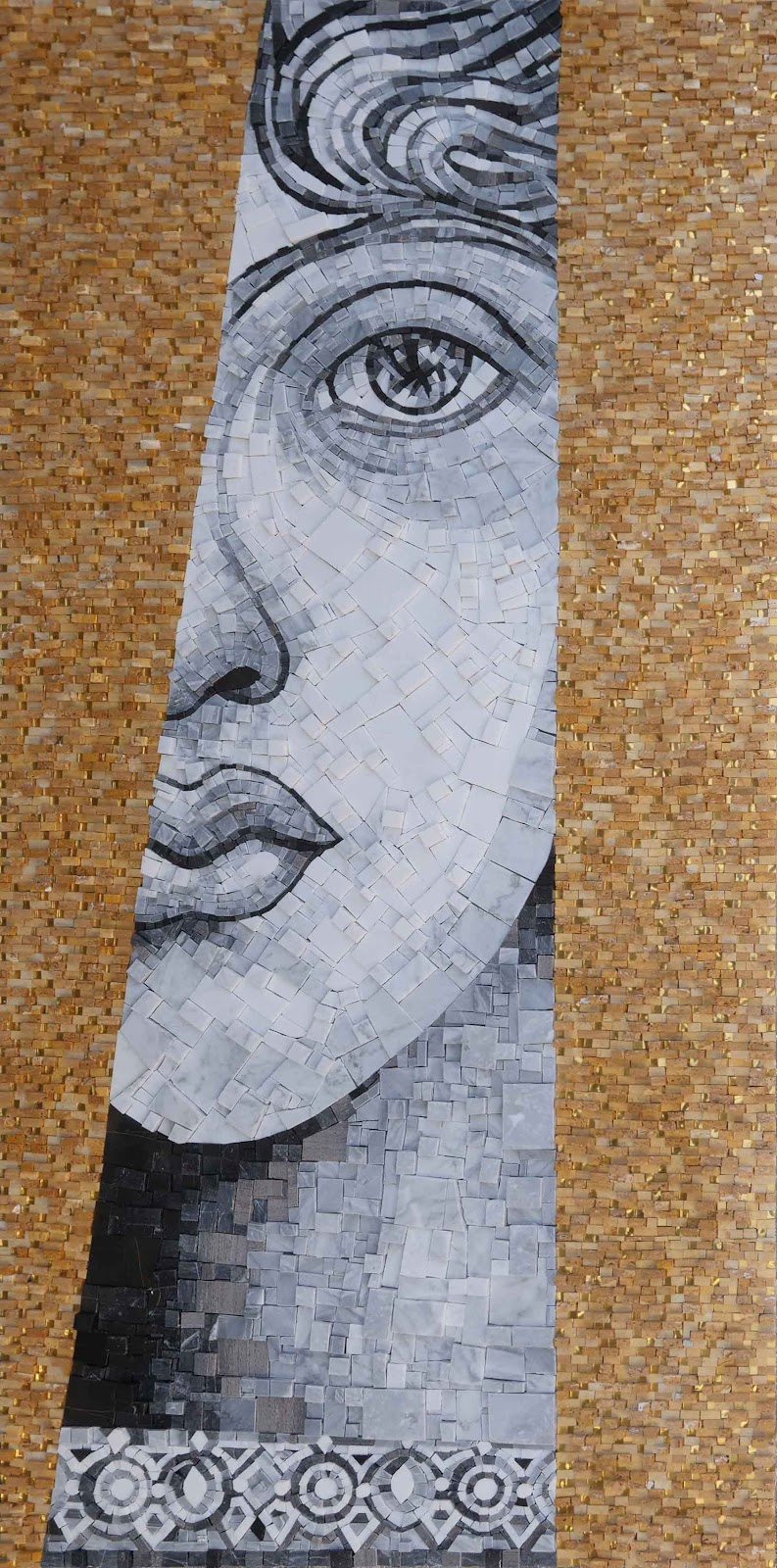 The Roman Lady Mosaic Portrait by Mozaico