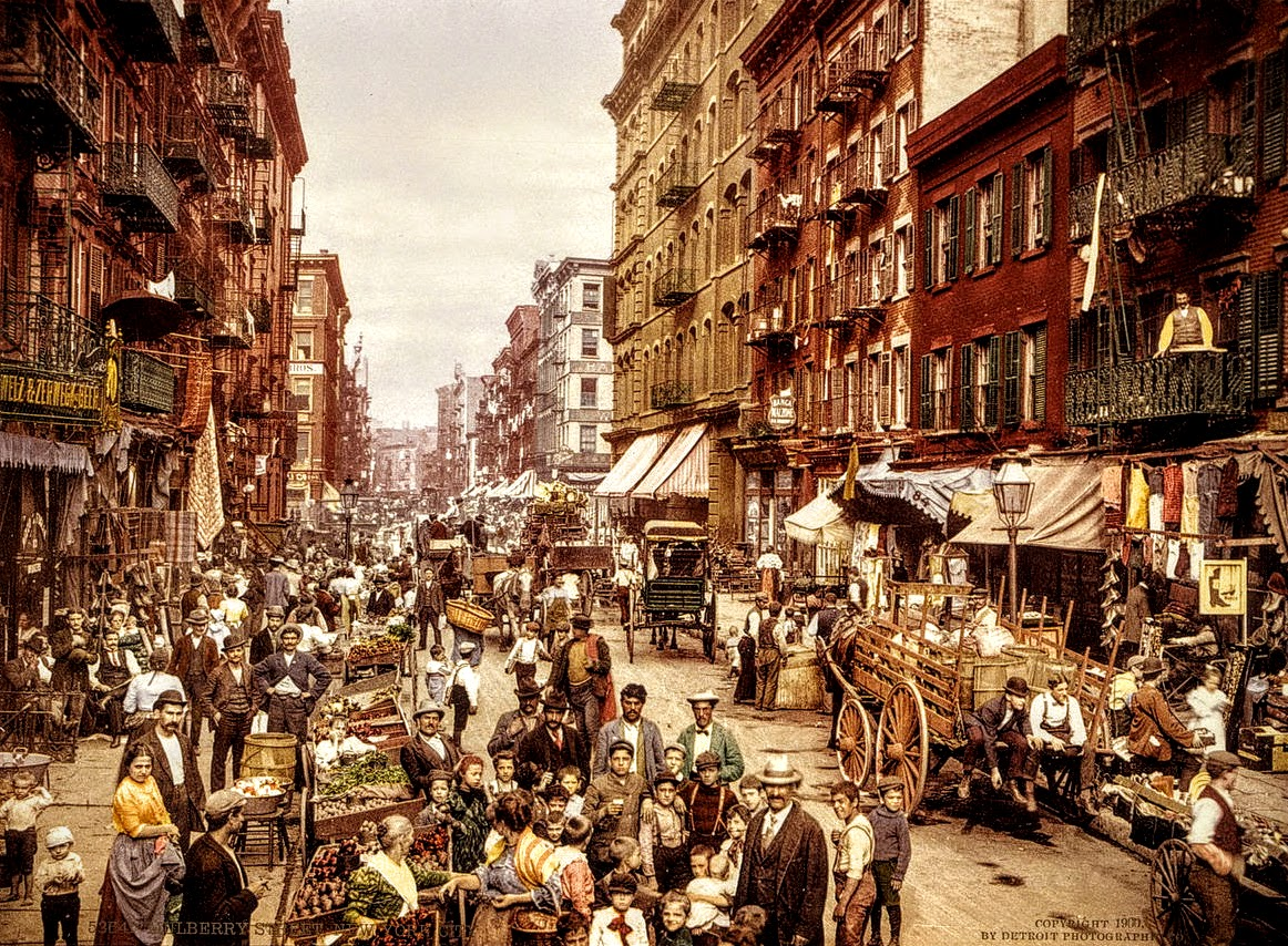Mulberry Street in New York City c 1900