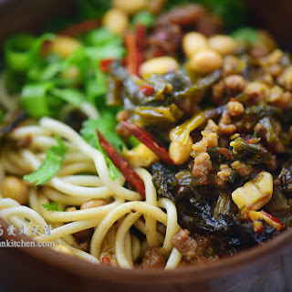 Spicy Noodle with Pickled Vegetable and Ground Pork Recipe