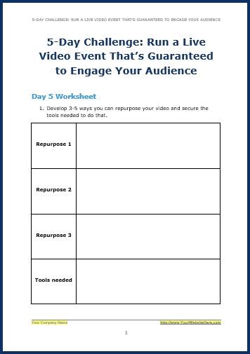 Live Video Marketing - Bonus ChallengeW5