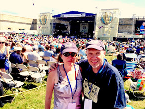 Photo: Ken and Claire at Newport Jazz Festival
