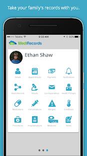 MediRecords - náhled