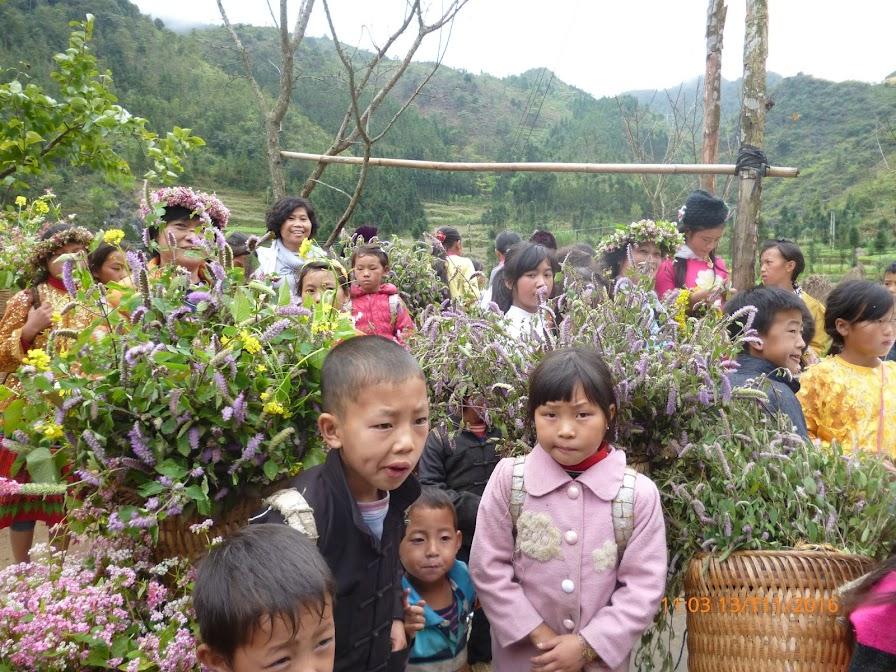 bọn trẻ và hoa