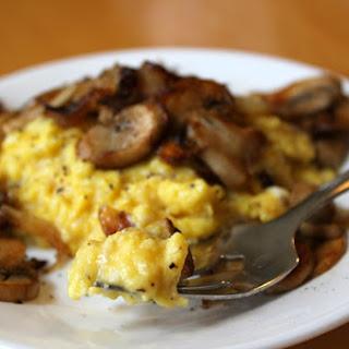 Mushroom Scrambled Eggs.