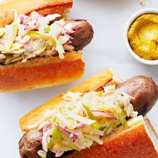Grilled Sausage and Apple Slaw Subs.