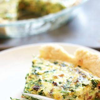 Spinach and Bacon Quiche.