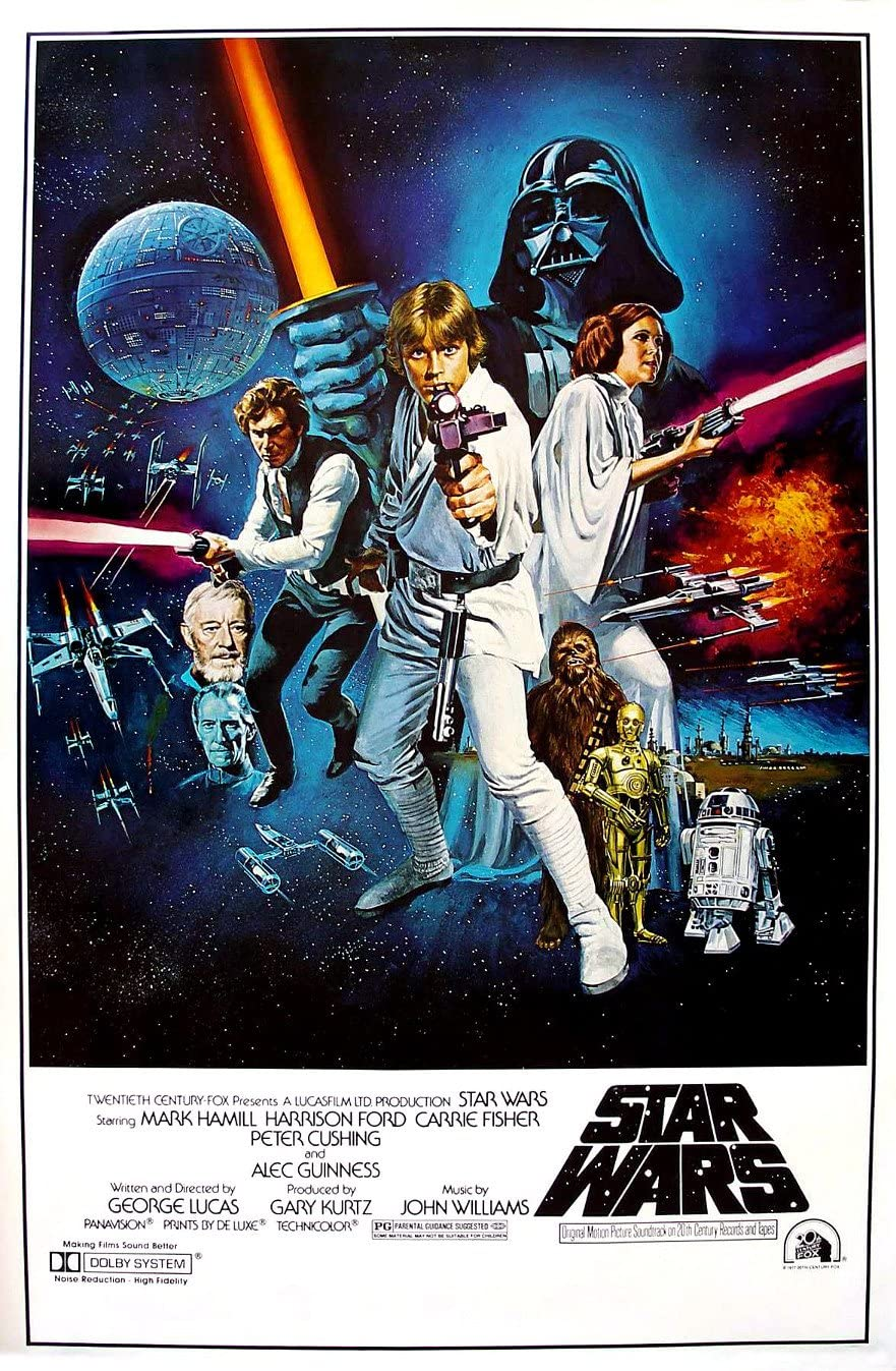 Amazon.com: Star Wars: A New Hope Movie Poster, 24-inch x 36-inch : Posters  & Prints