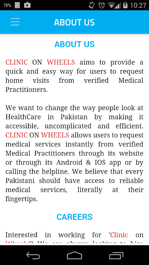 Clinic On Wheels- screenshot