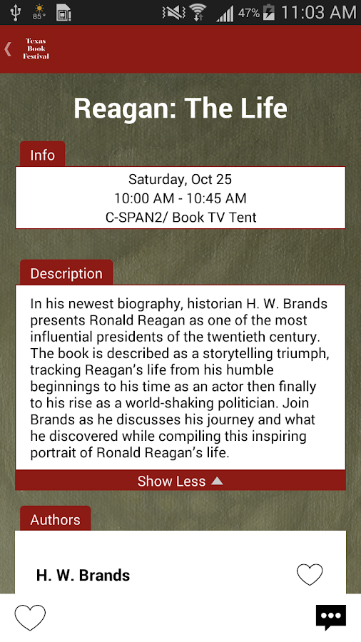 Texas Book Festival- screenshot