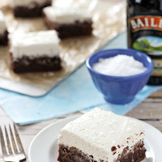 Chocolate Stout Brownies with Irish Cream Frosting