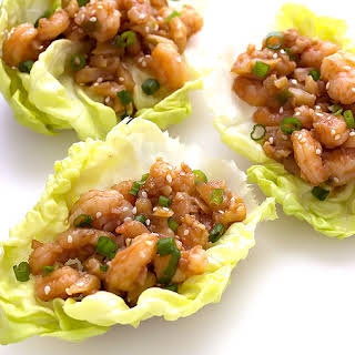 Hoisin Shrimp Lettuce Wraps.