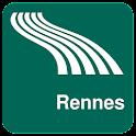 Karte von Rennes offline