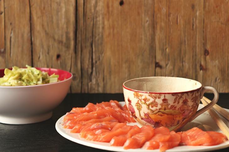 Salmon Sashimi with SautéEd Kale Recipe