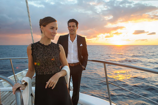 Ponant-Le-Ponant-romance2.jpg - Take time to enjoy sunsets in romantic ports around the world on the 64-passenger Le Ponant.